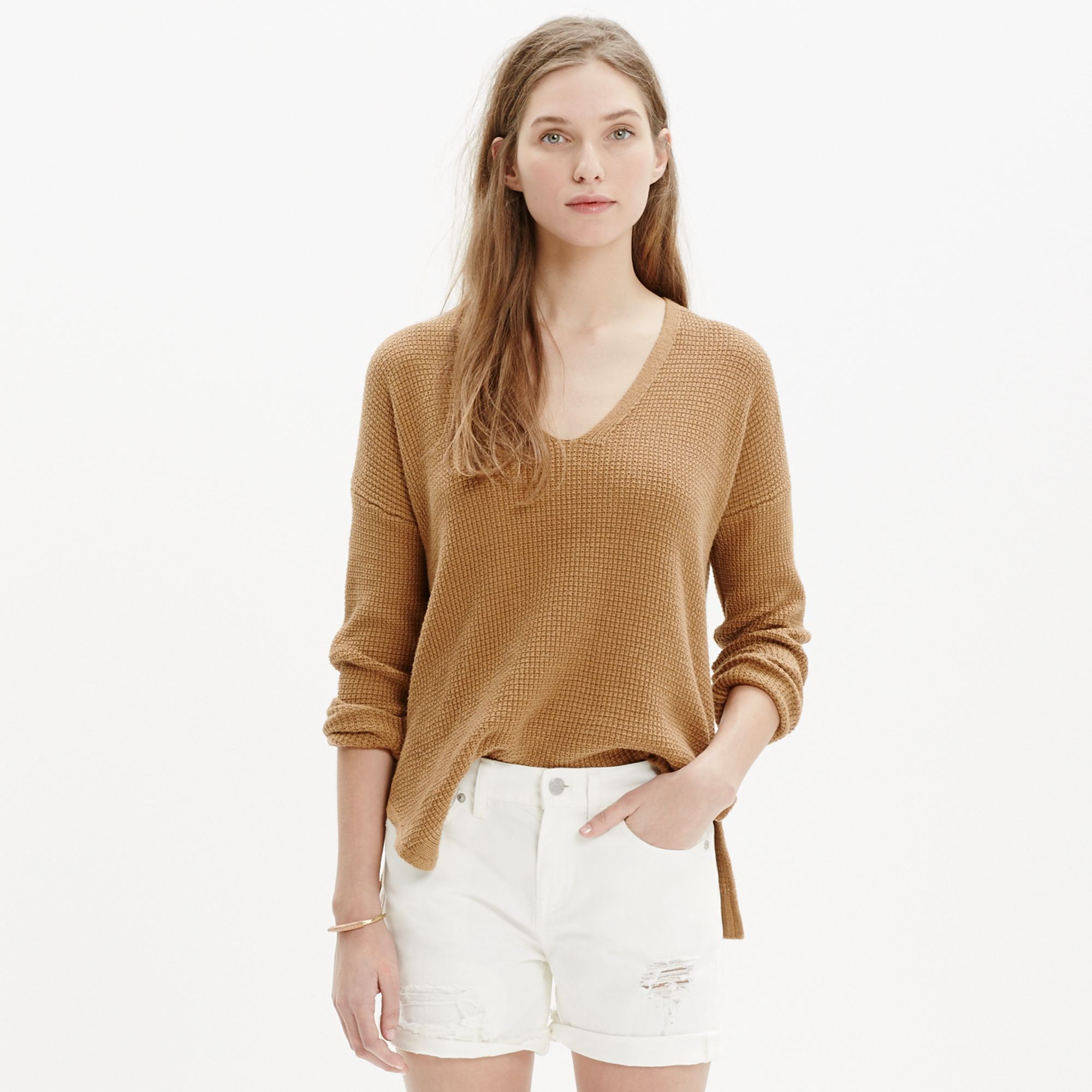 Madewell Oceanside Pullover Sweater In Brown Lyst