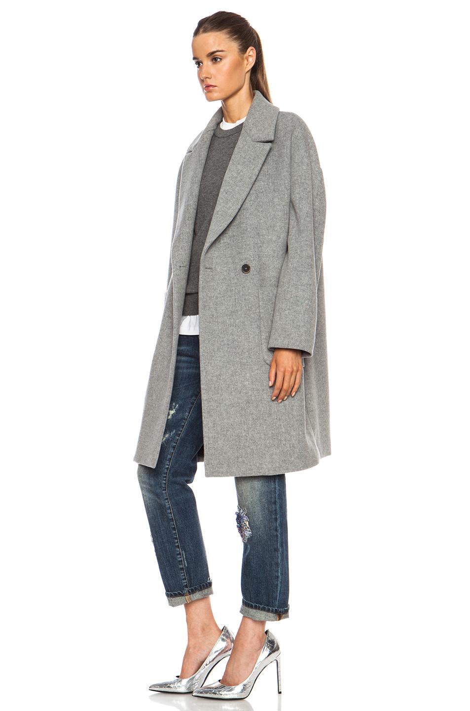 msgm oversized pocket blazer in gray lyst. Black Bedroom Furniture Sets. Home Design Ideas