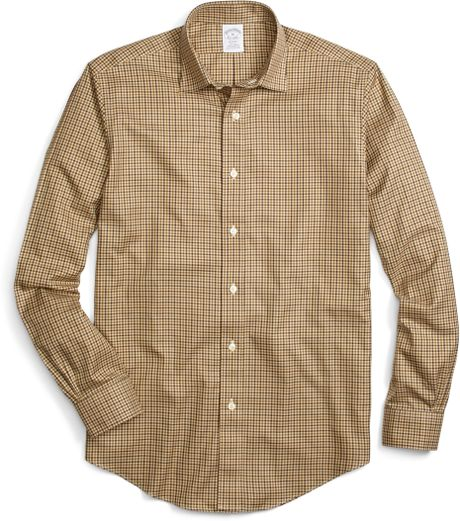 Brooks brothers non iron milano fit check sport shirt in for Brooks brothers dress shirt fit guide