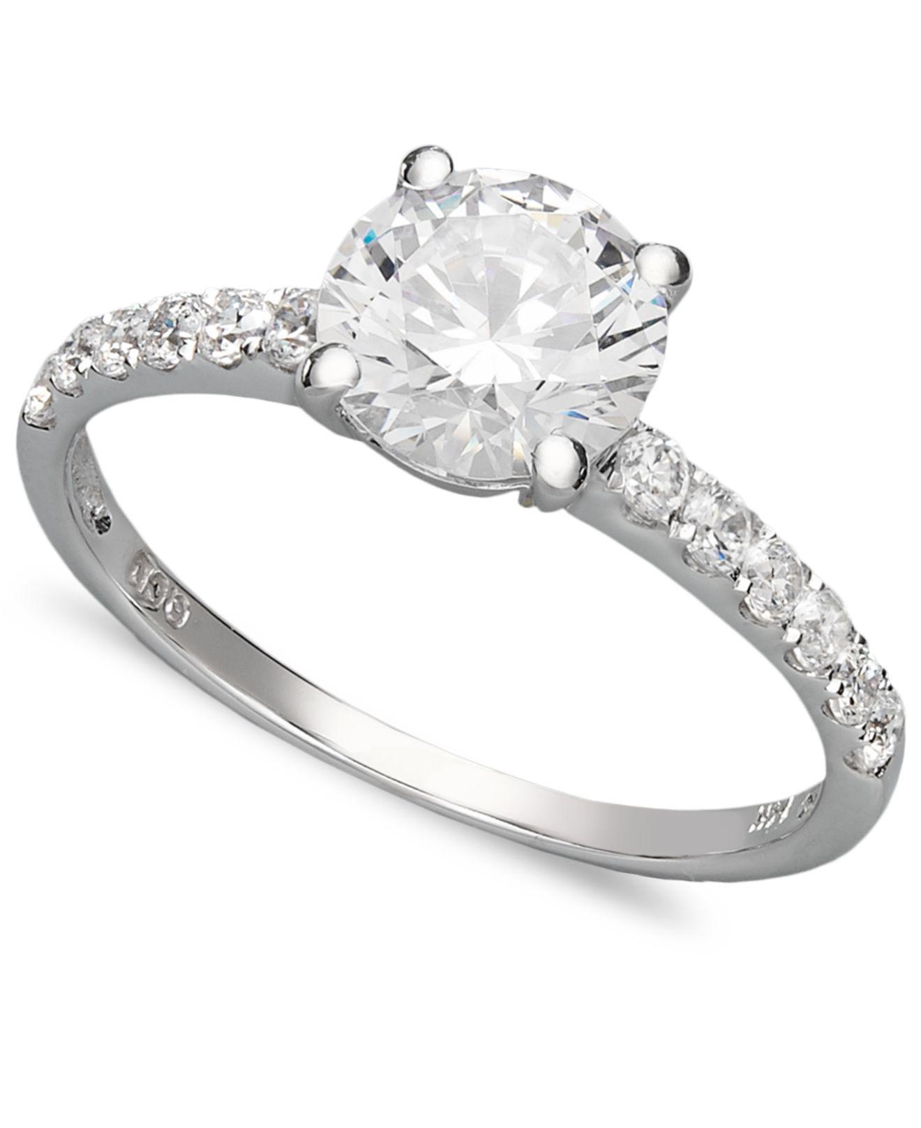 arabella swarovski zirconia wedding ring 2 3 4 ct t w. Black Bedroom Furniture Sets. Home Design Ideas