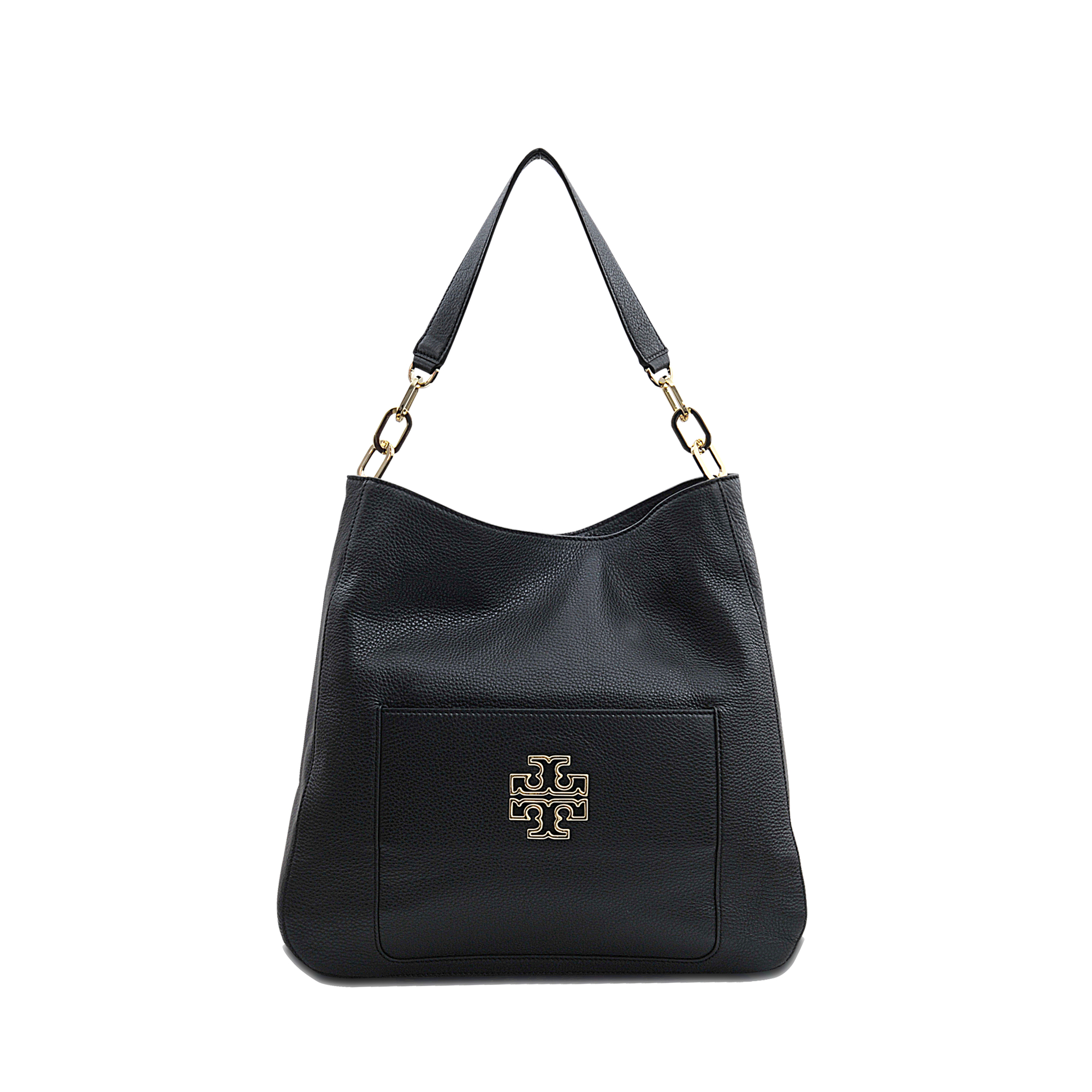 7197d6bbdec Lyst - Tory Burch Britten Hobo Bag in Black