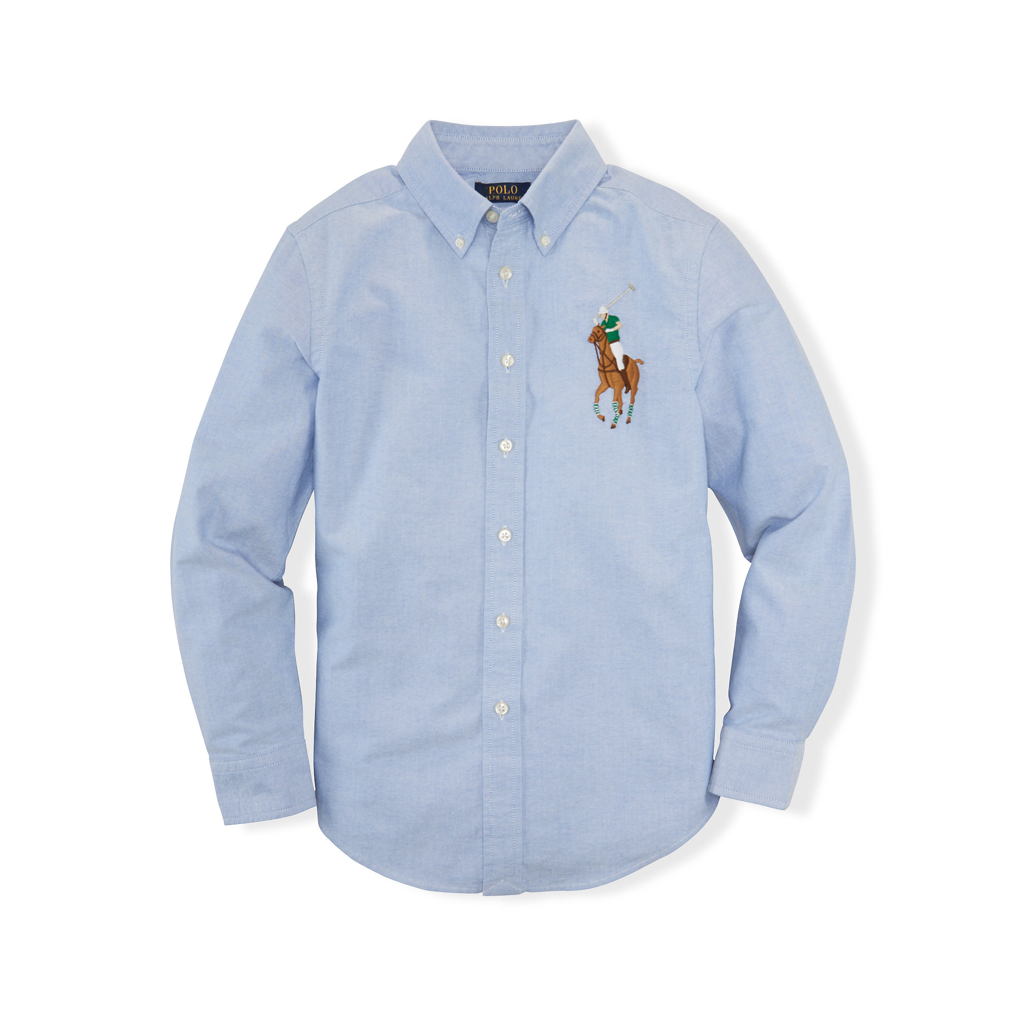 f990f252 ... sale lyst ralph lauren big pony cotton oxford shirt in blue for men  06b88 76a97