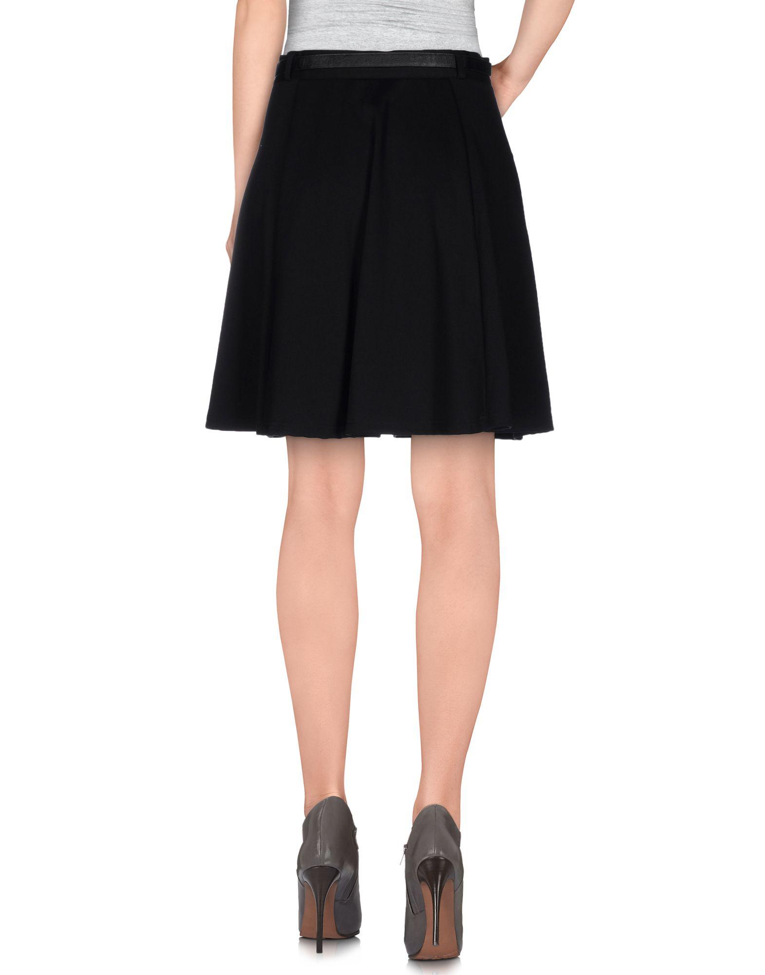 vero moda knee length skirt in black lyst. Black Bedroom Furniture Sets. Home Design Ideas