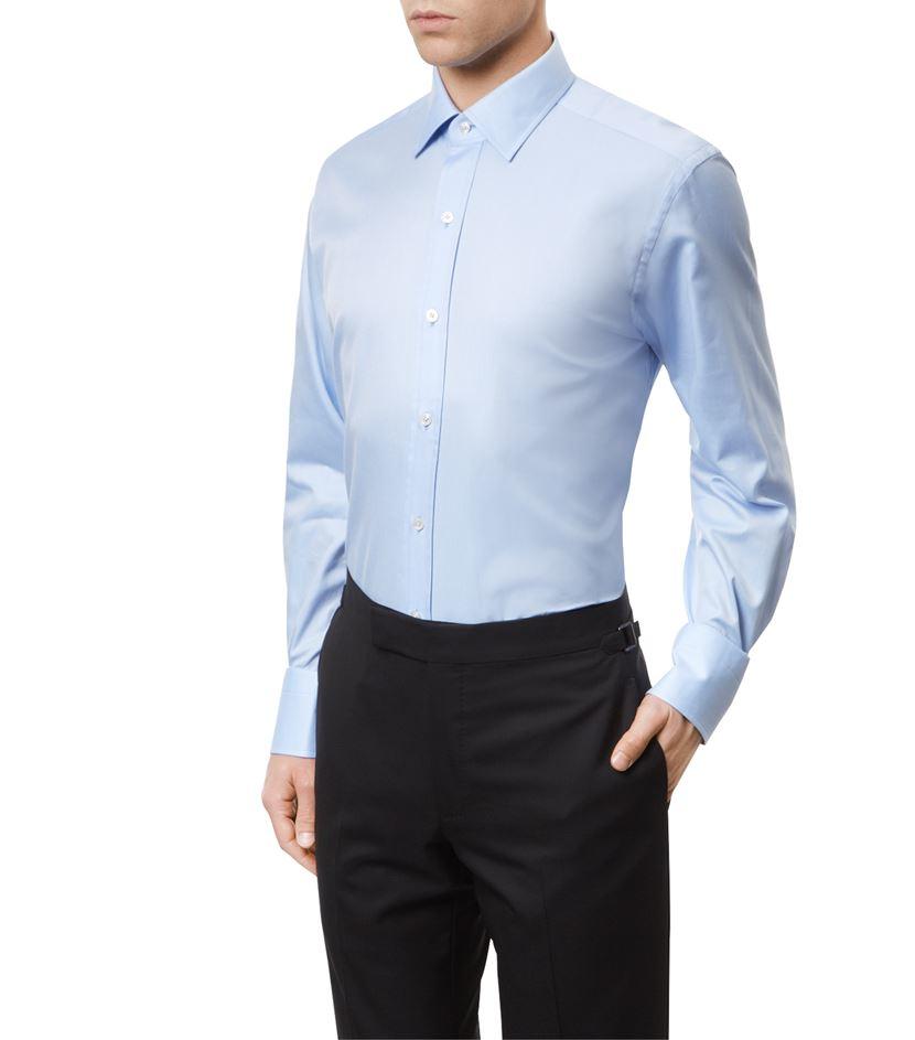 30547a2f8ff Tom Ford Twill Slim Fit Shirt in Blue for Men - Lyst