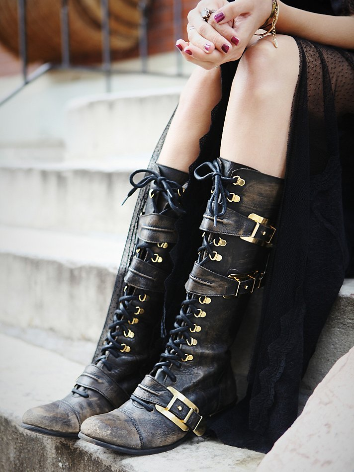 Lyst Free People Womens Kantell Lace Up Boot In Black