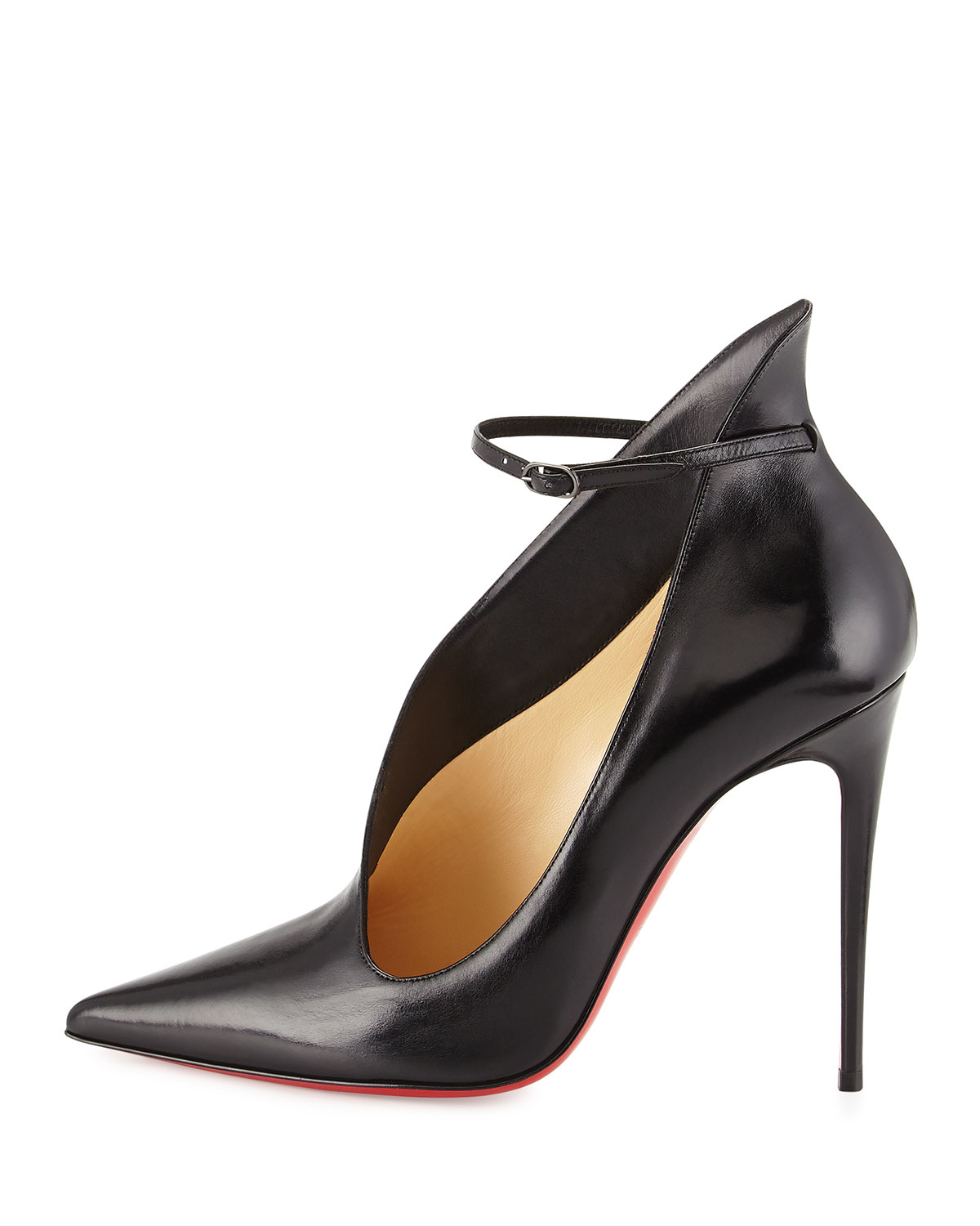 Christian louboutin Vampydoly Red Sole Leather Half-Bootie in ...