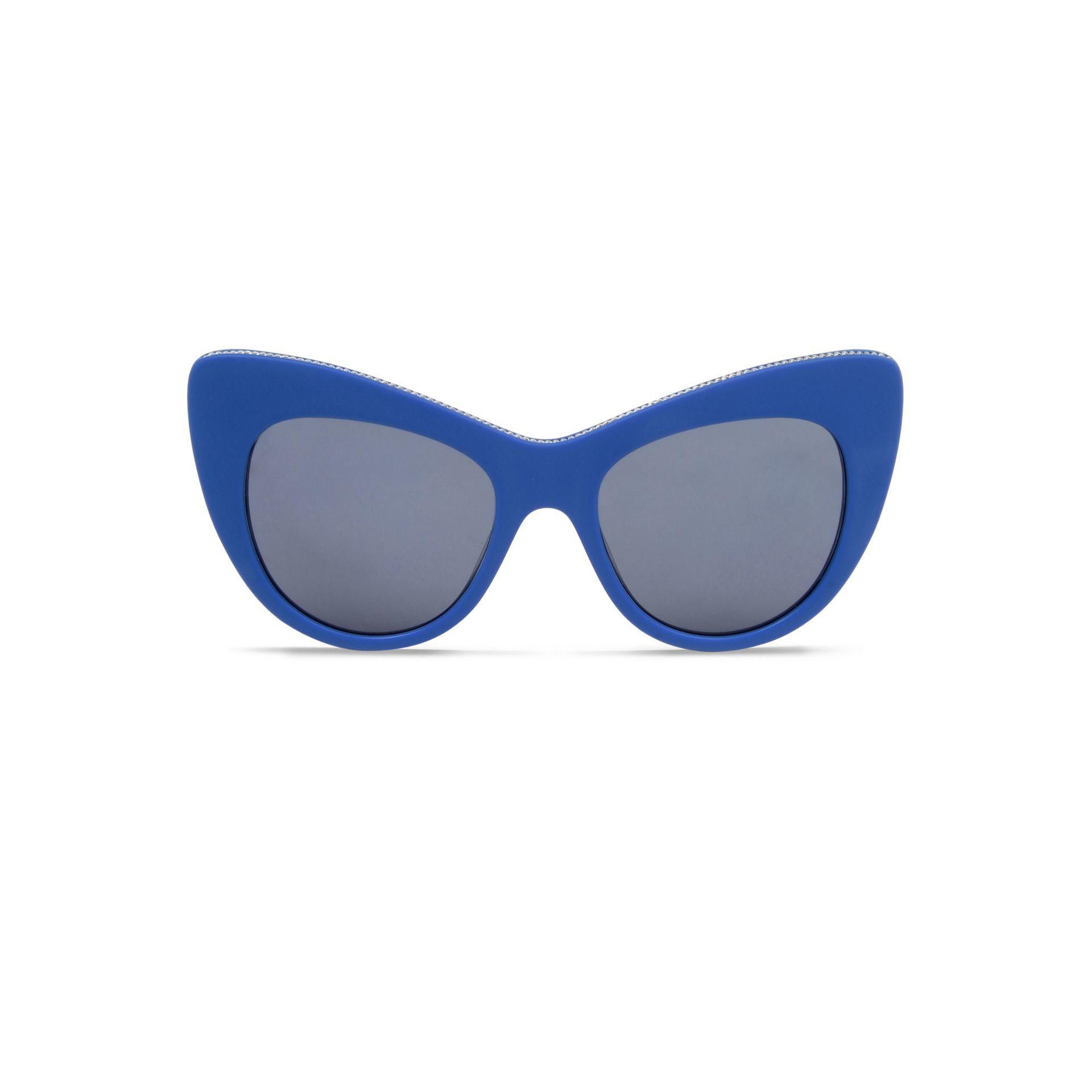 Stella Mccartney Cobalt Oversized Cat Eye Sunglasses In