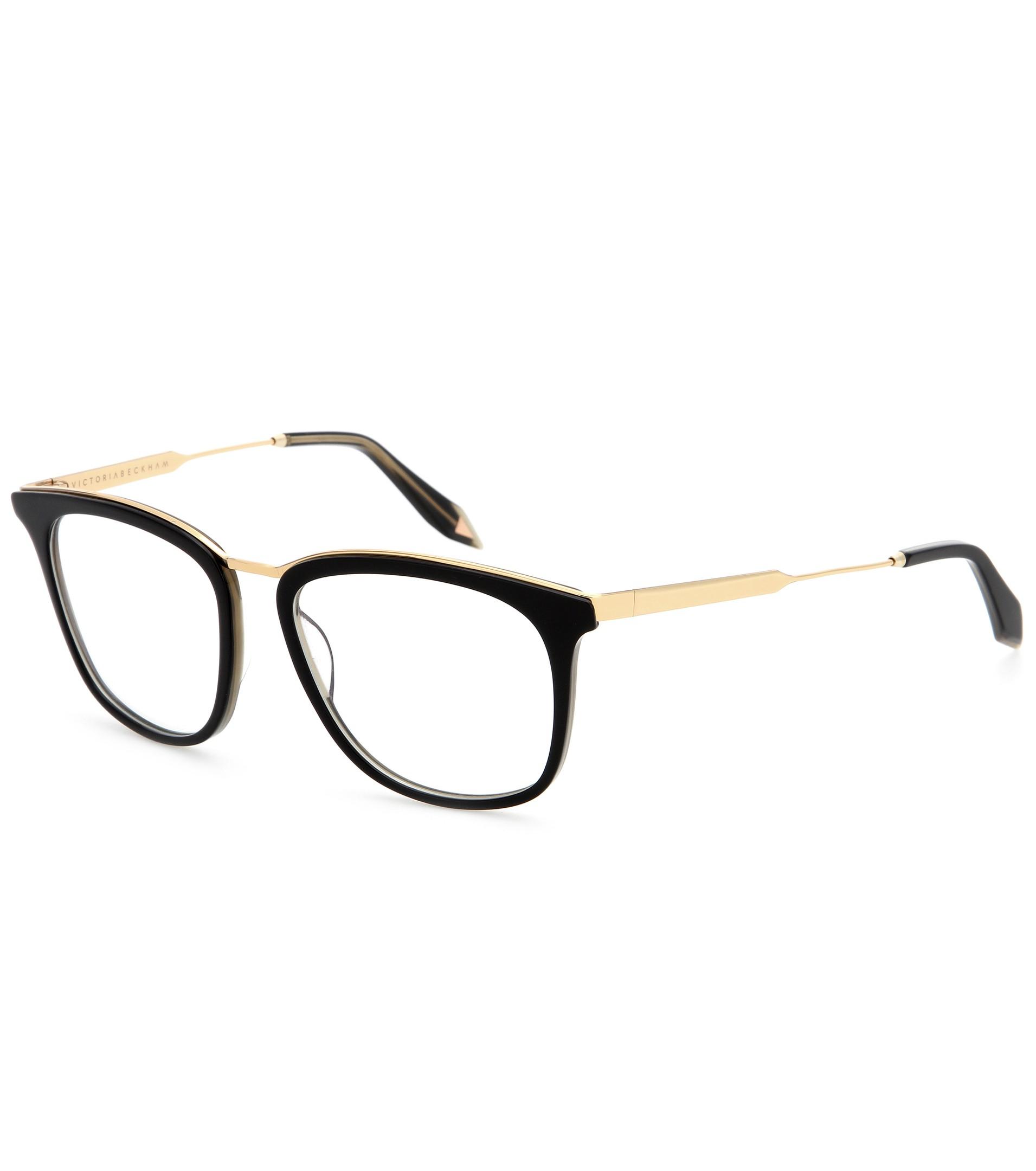 3eeef2d4ce Lyst - Victoria Beckham Ponte Fine D Frame Optical Glasses in Green