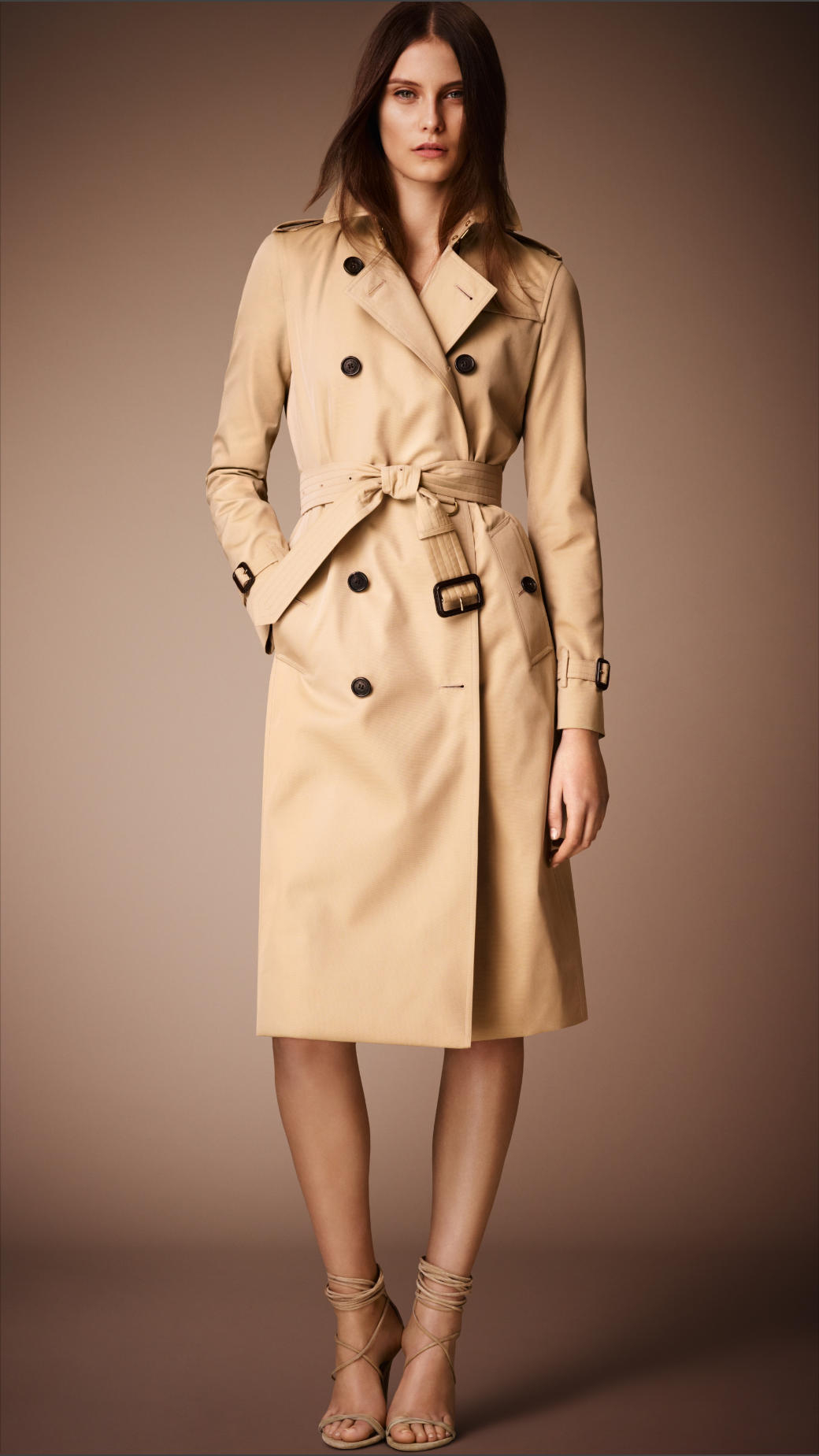 Burberry The Kensington Long Heritage Trench Coat in Brown ...
