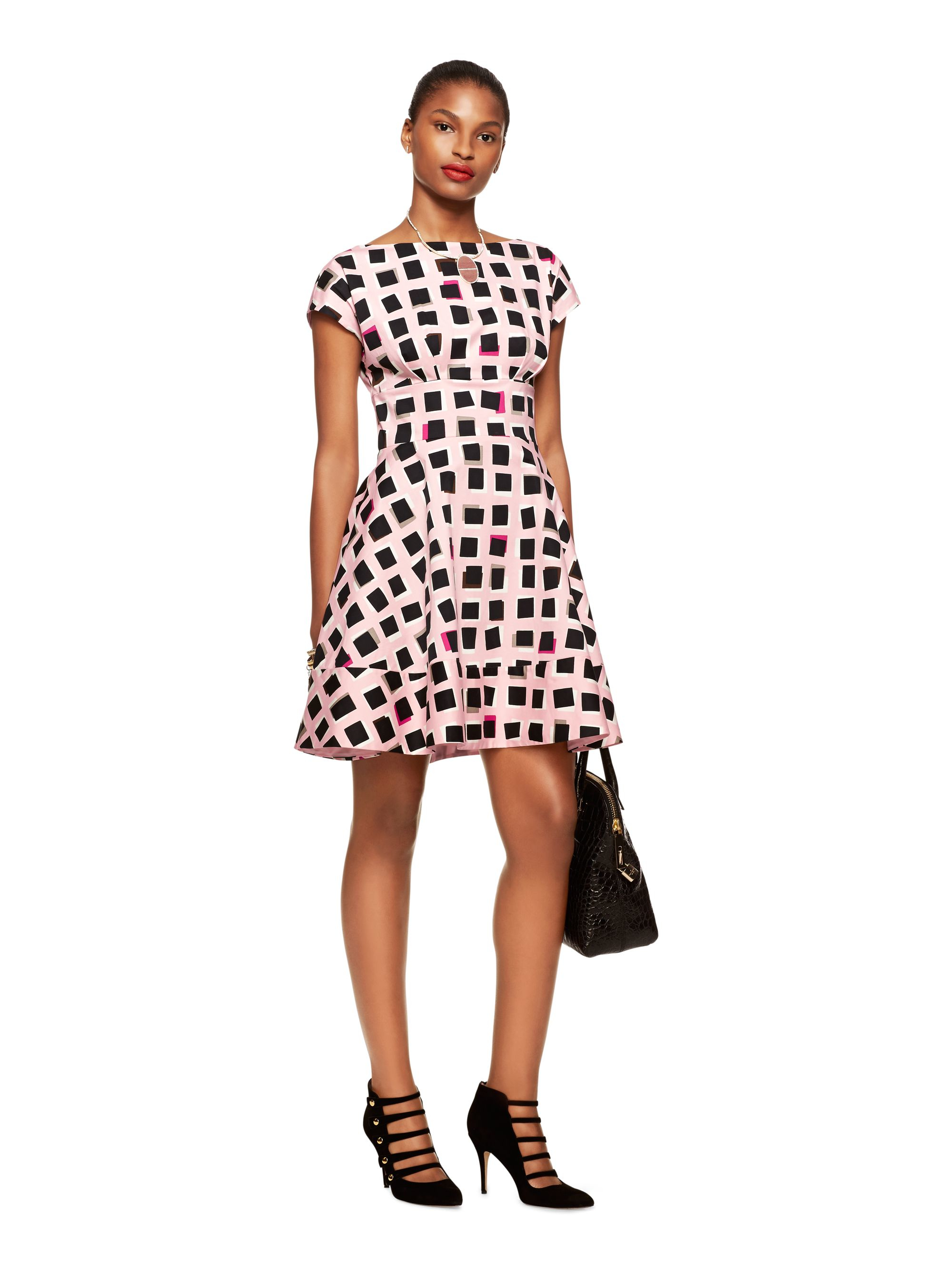 Kate Spade New York Abstract Sweets Fiorella Dress In Pink