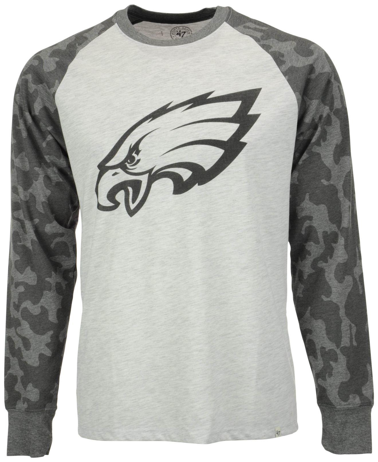 pretty nice 9e9e8 f0458 47 Brand Gray Men's Philadelphia Eagles Stealth Camo Sweatshirt for men