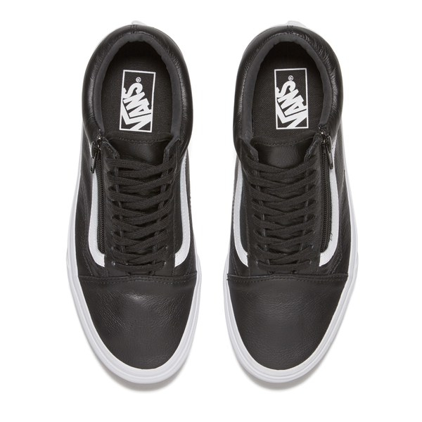 067440f1341479 Vans Men s Old Skool Zip Premium Leather Trainers in Black for Men ...