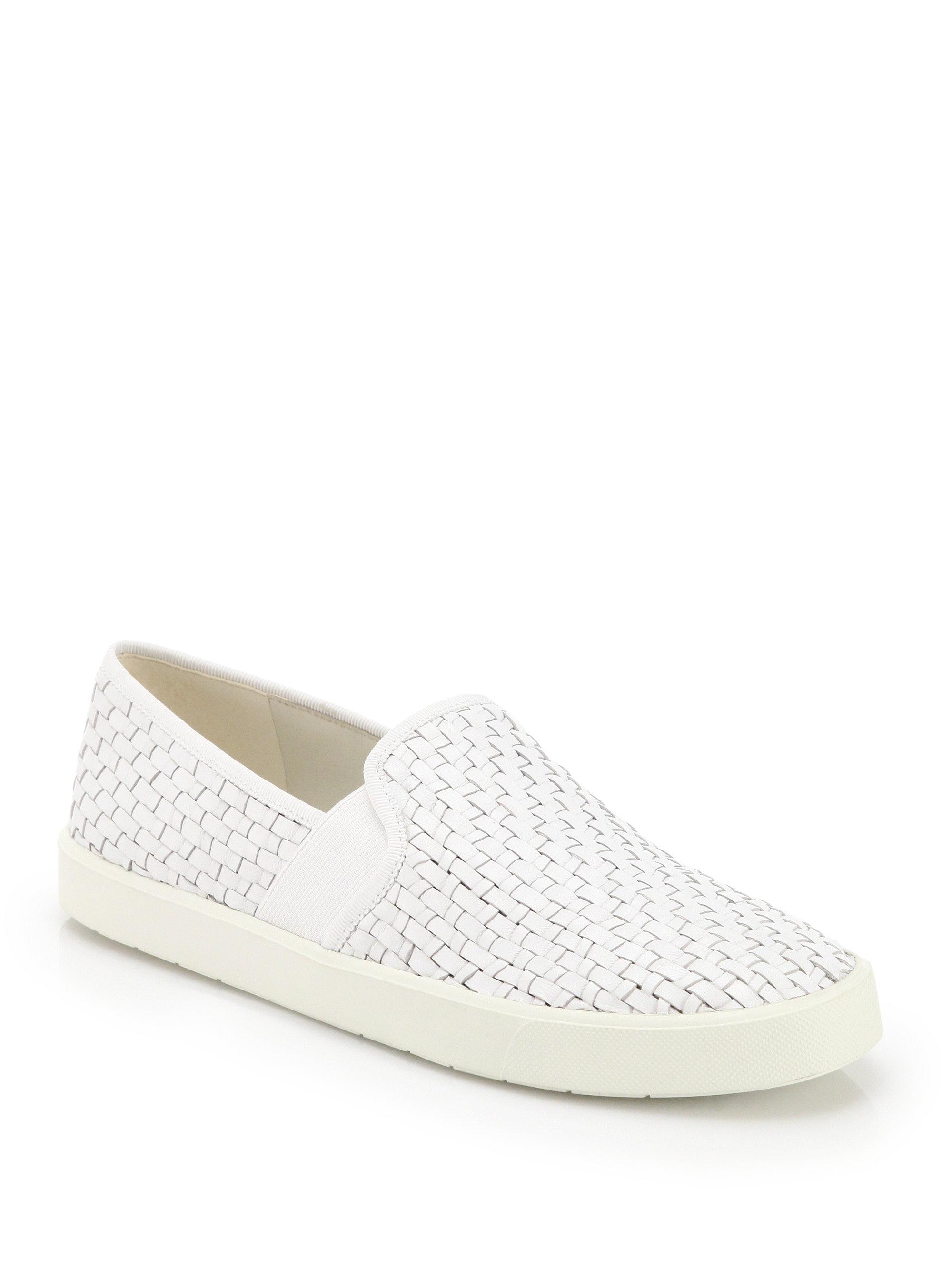 Vince Woven Leather Slip-On Sneakers discount best cheap sale original cheap 2014 unisex Orange 100% Original sale cheap RnTZGa9