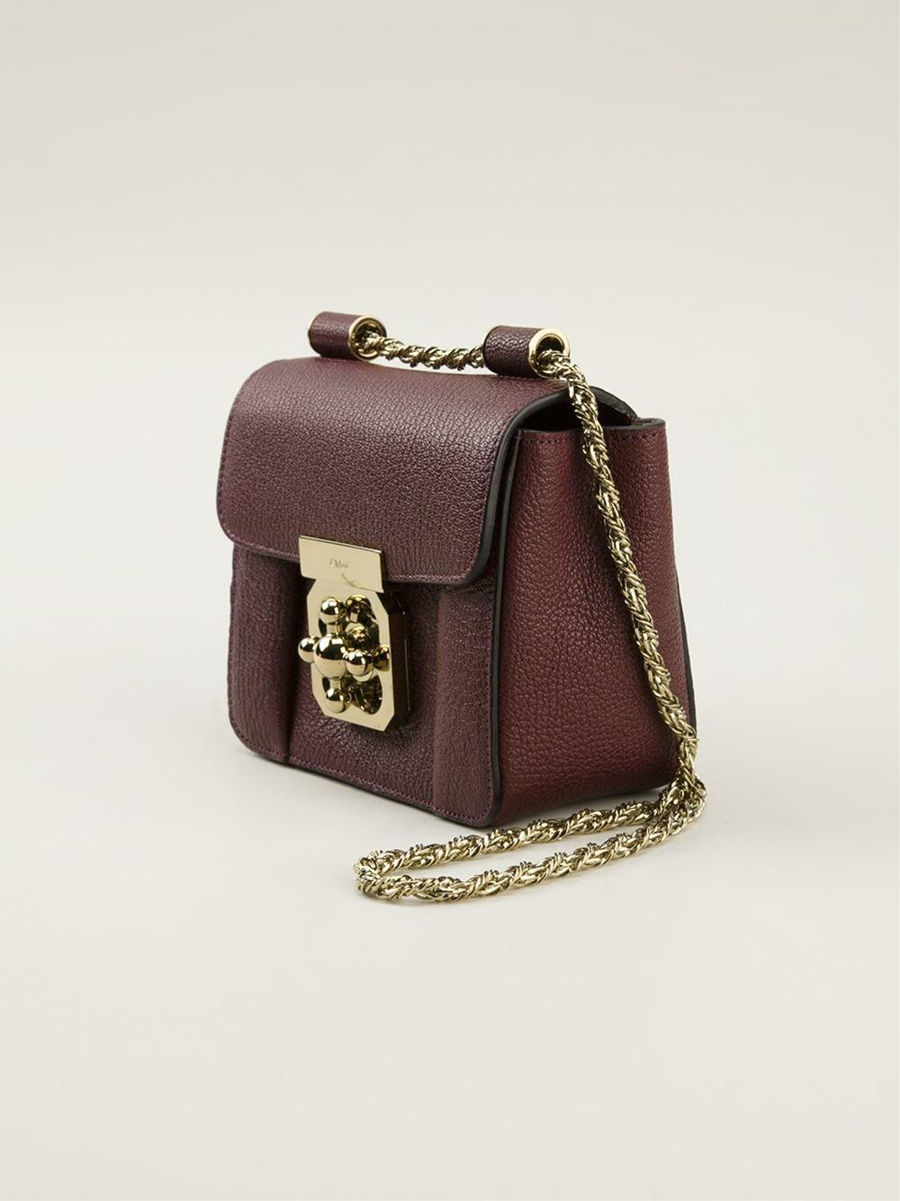 chloe pink bag - Chlo�� Elsie Satchel in Red | Lyst