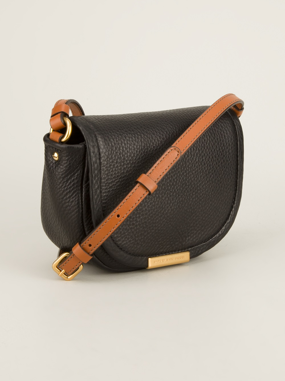 a63a089f71f Marc By Marc Jacobs Softy Saddle Bag in Black - Lyst