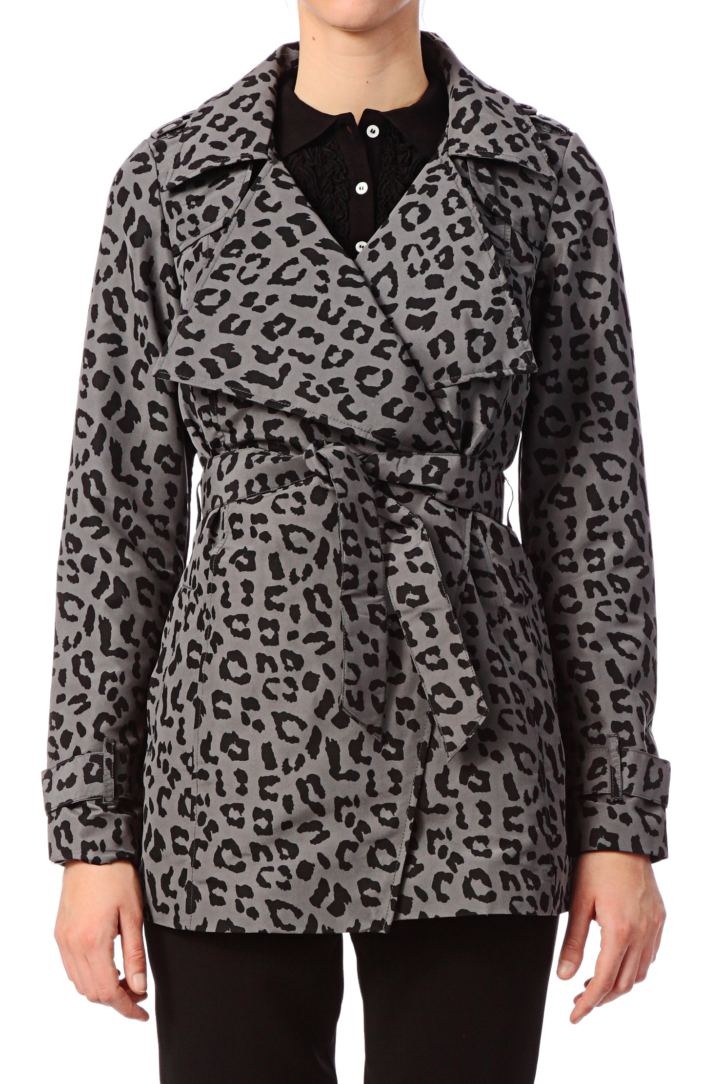 vero moda trench parka francis print trenchcoat in. Black Bedroom Furniture Sets. Home Design Ideas