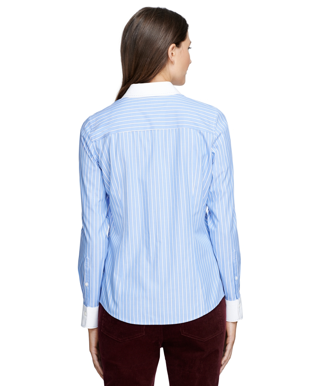 Lyst brooks brothers non iron fitted bold stripe dress for Brooks brothers non iron shirts review