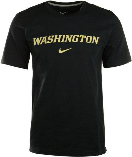 Nike Men 39 S Short Sleeve Washington Huskies Wordmark T