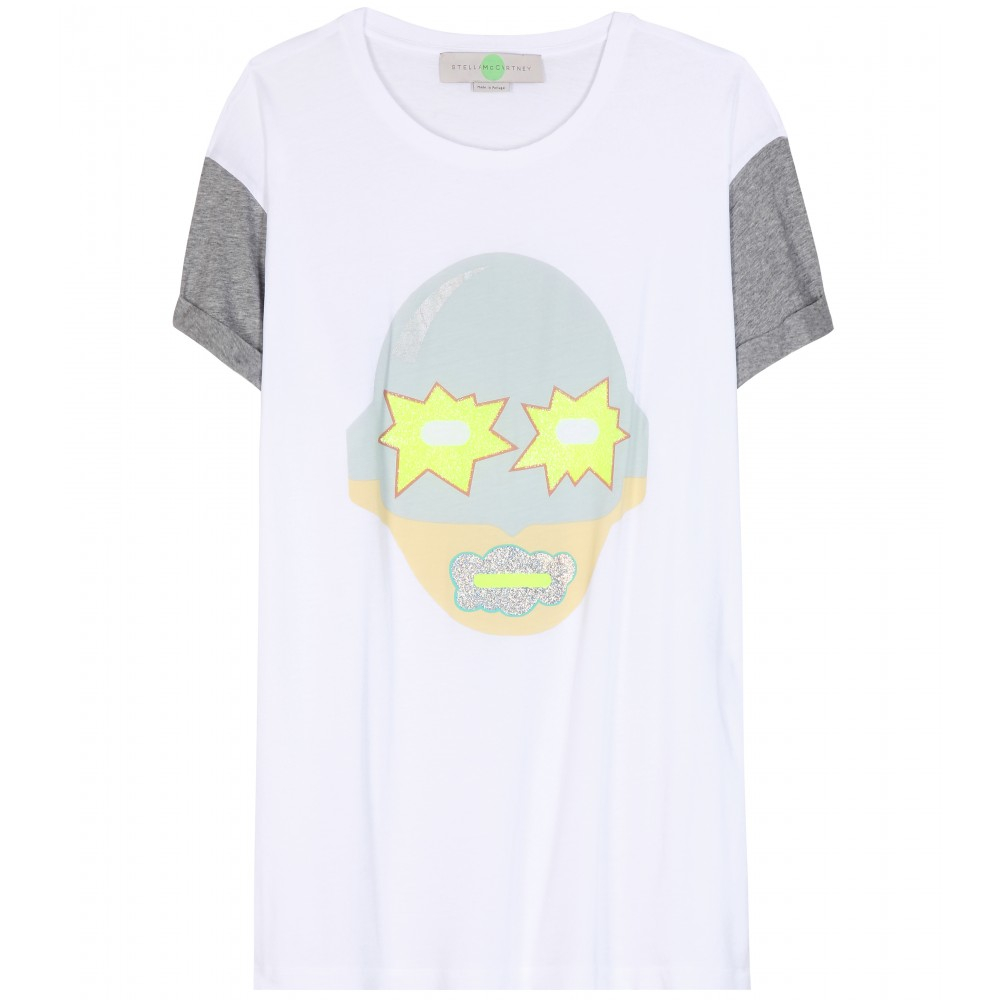 Stella Mccartney Superstellaheroes Cotton T Shirt In White