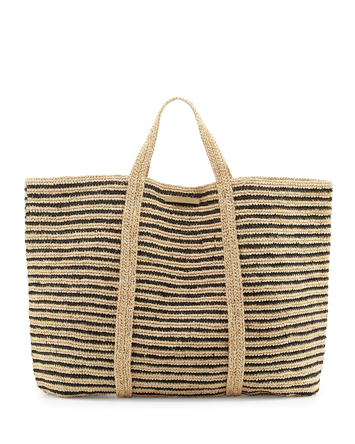 Vix Woven Striped Beach Tote Bag in Metallic | Lyst