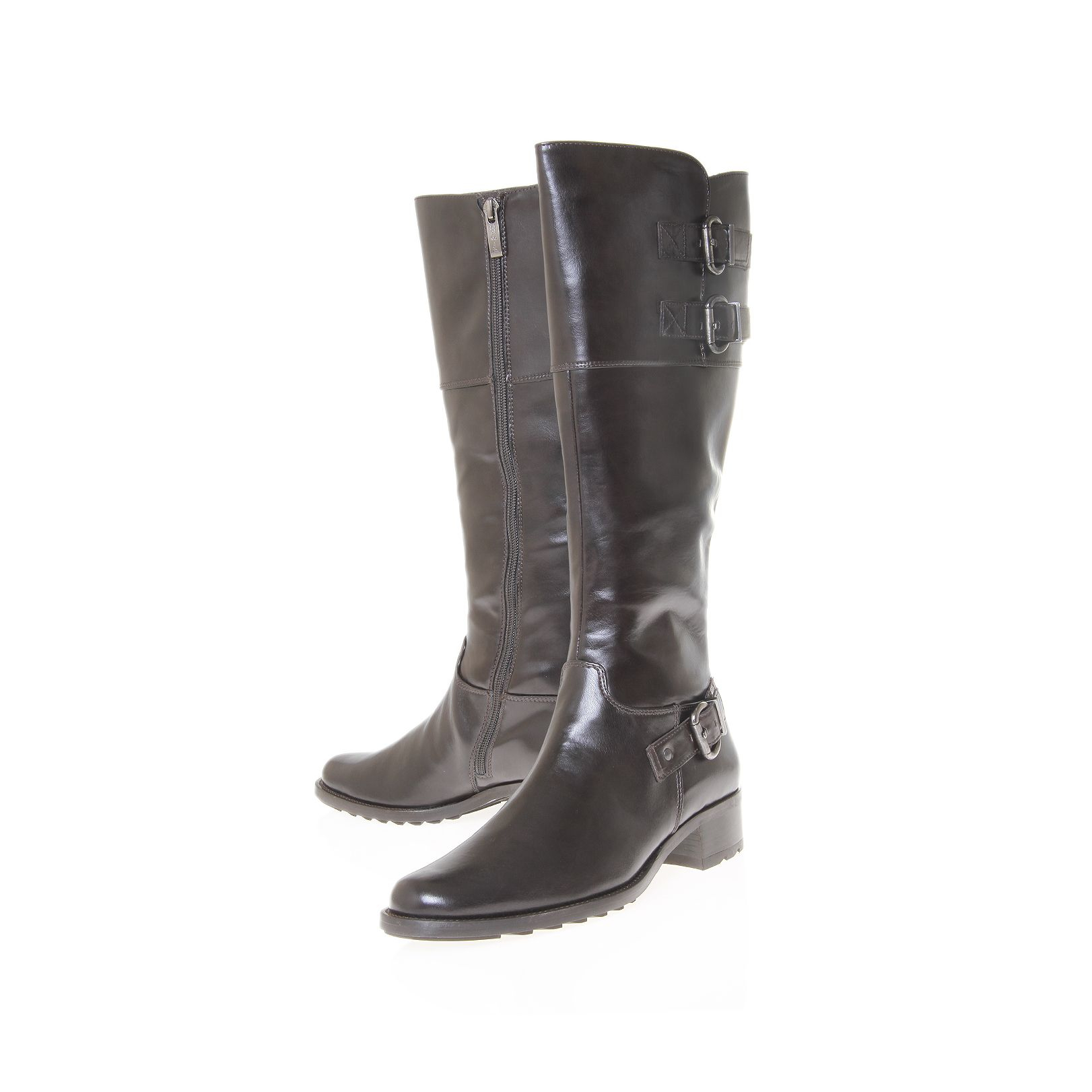 paul green rider ii knee boots in brown lyst. Black Bedroom Furniture Sets. Home Design Ideas