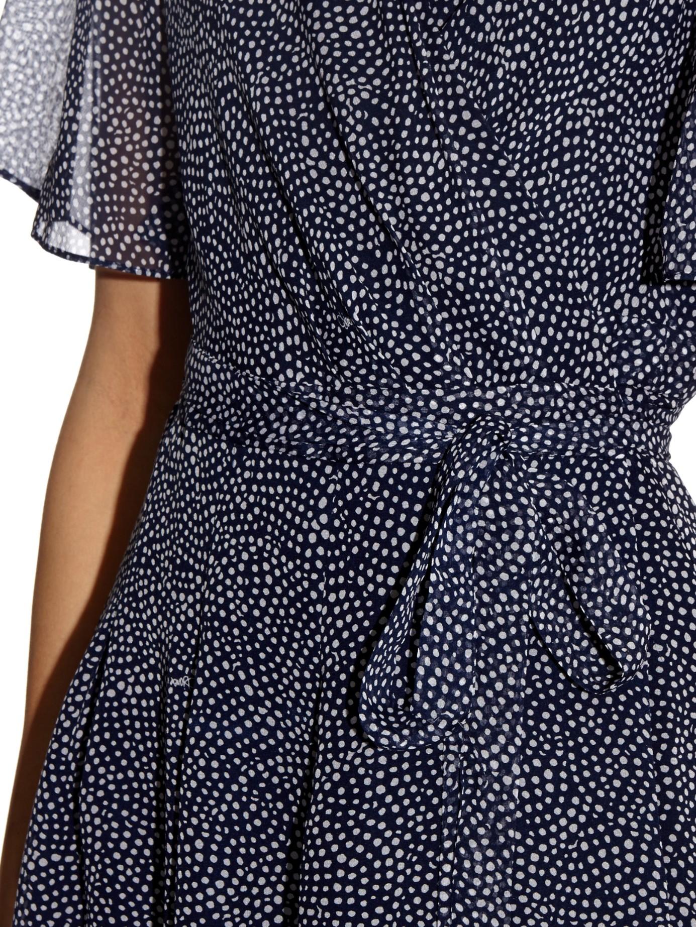 Diane Von Furstenberg Katina Wrap Dress In Blue Lyst