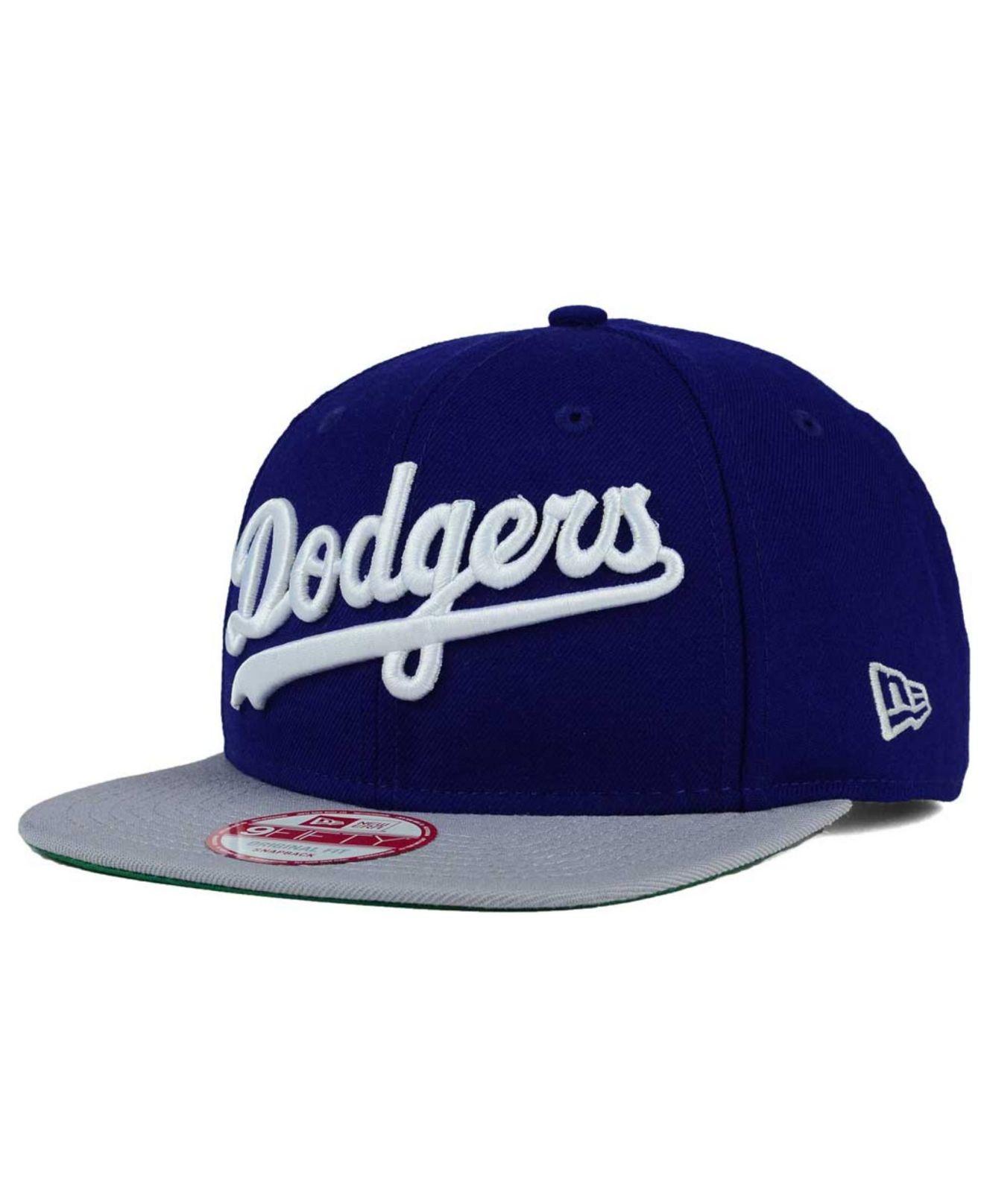 wholesale dealer 09eb9 ac309 KTZ Los Angeles Dodgers Xl Script 9fifty Snapback Cap in Blue for ...