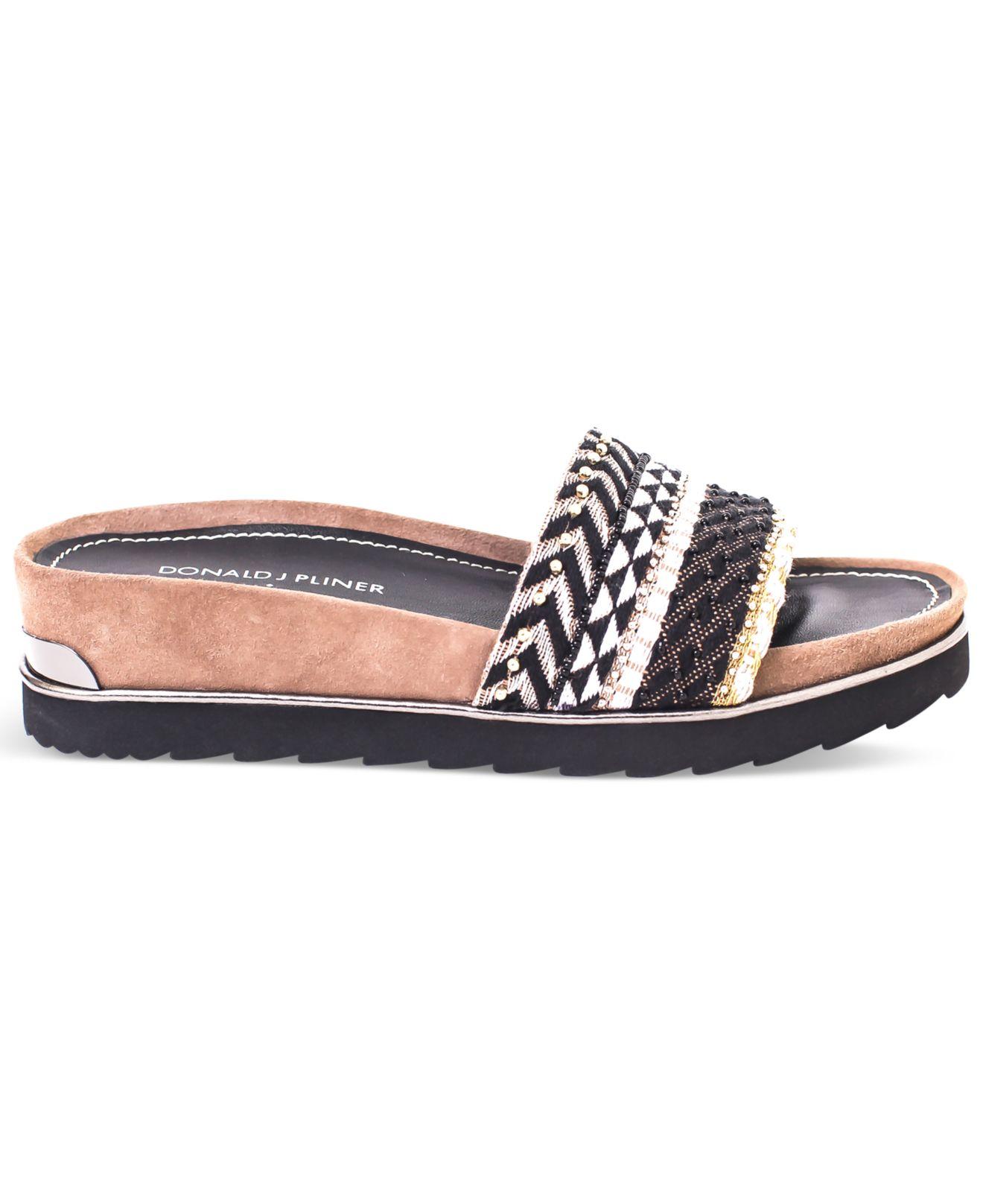 912a0e1e176 Lyst donald pliner donald pliner cava slide on wedge sandals jpg 1320x1616 Donald  pliner slides