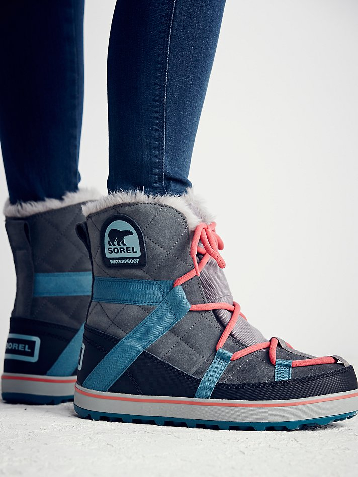 b3a2989723e Lyst - Free People Sorel Womens Glacy Explorer Weather Boot in Blue