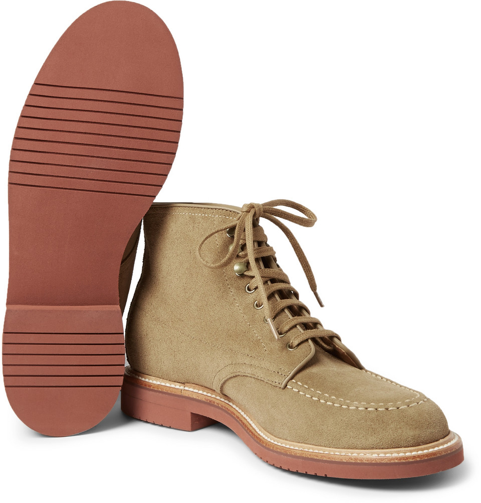 J.Crew Kenton Suede Boots in Natural