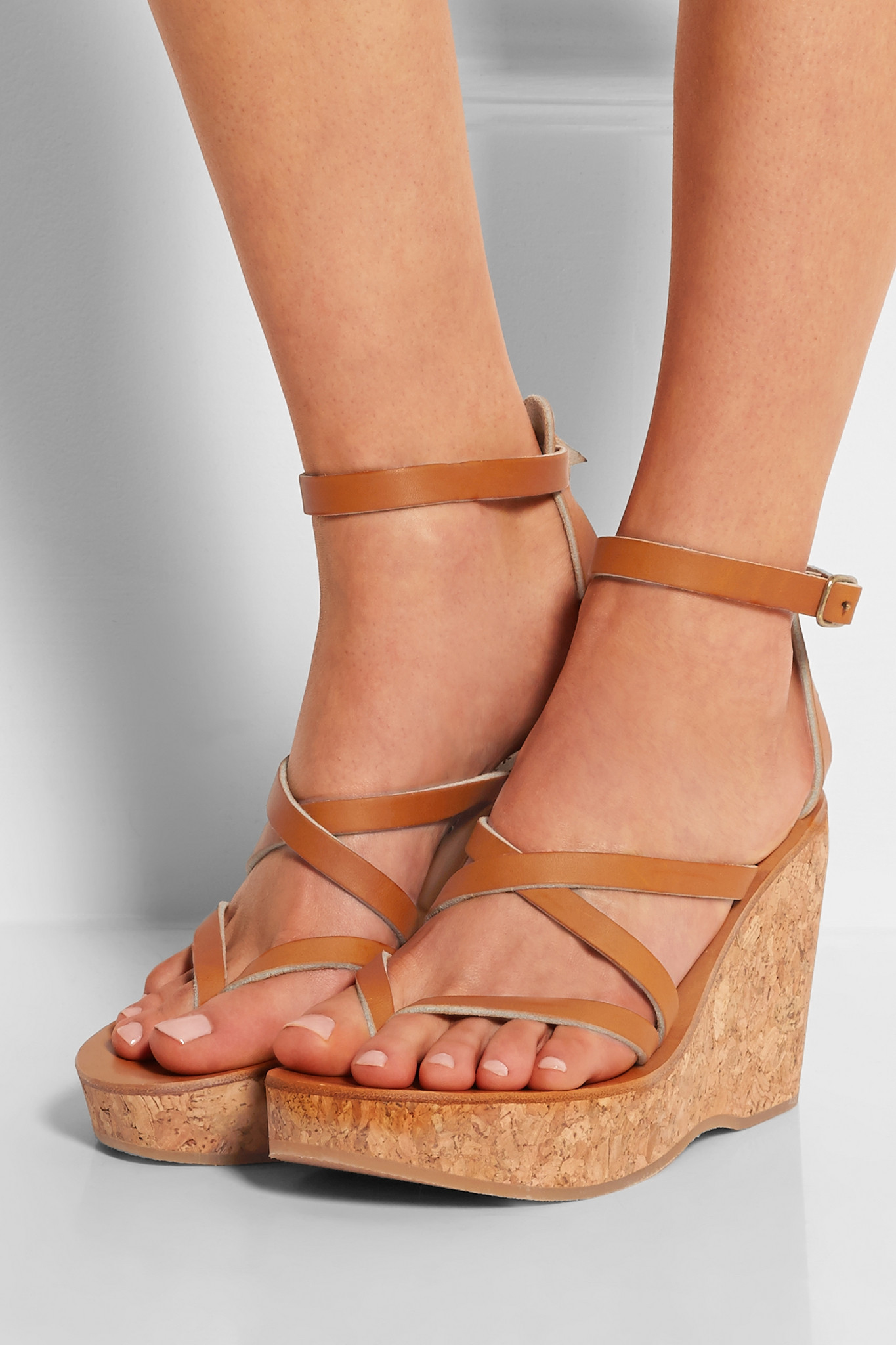 5cba31bd183 Lyst - K. Jacques Cunegonde Leather Wedge Sandals