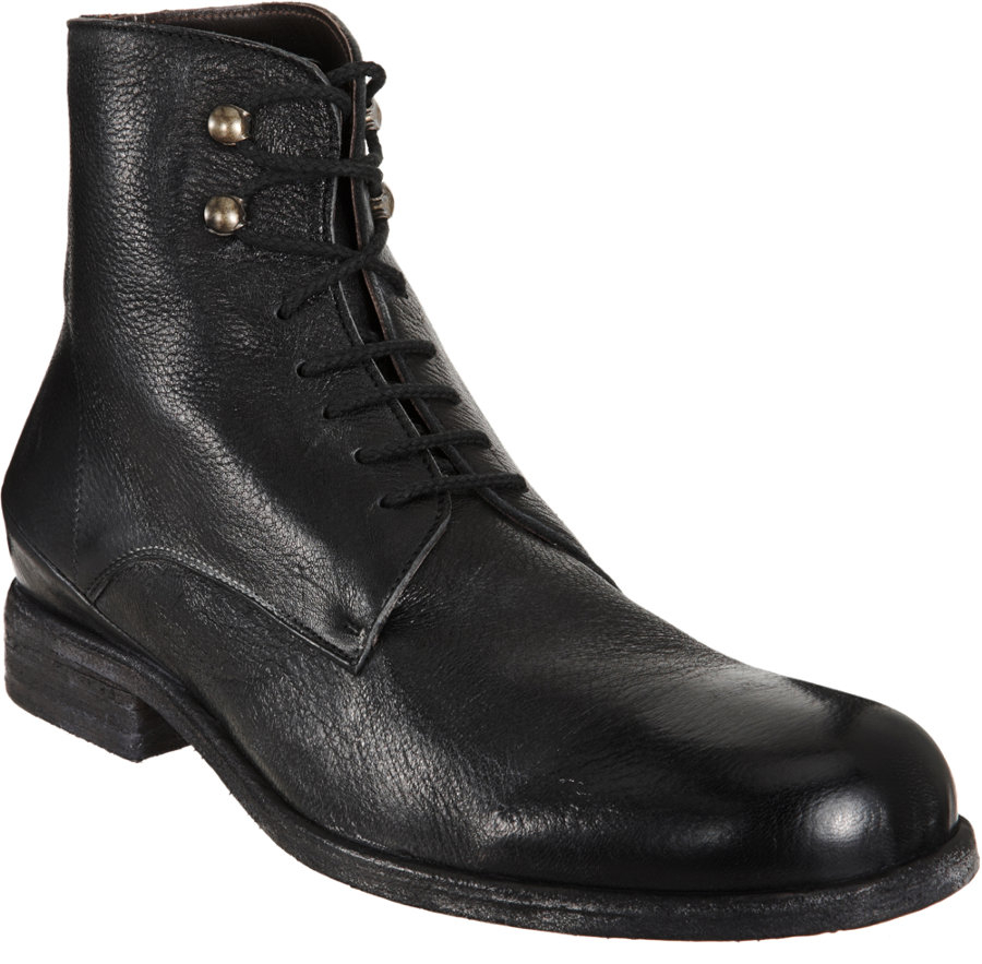 shoto derby boot in black for lyst