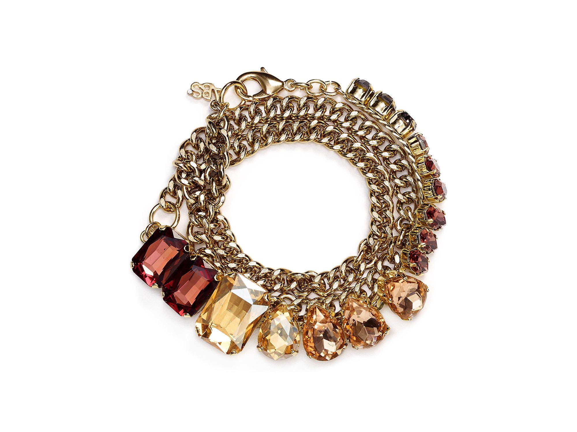 abs by allen schwartz chain wrap bracelet lyst