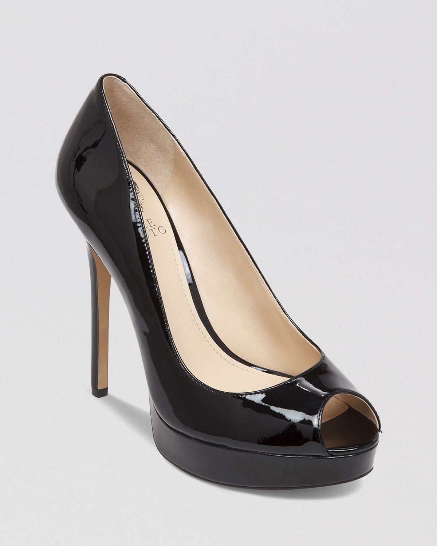b8050d77066f3e Lyst - Vince Camuto Peep Toe Platform Pumps - Lorim High Heel in Black