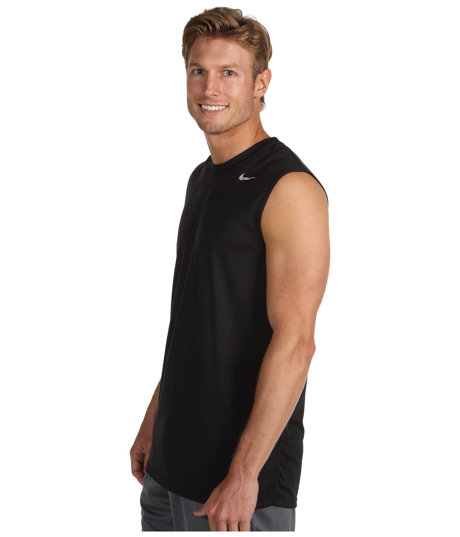 b406f79b Nike Dri-Fit™ Legend Sleeveless Training Shirt in Black for Men - Lyst