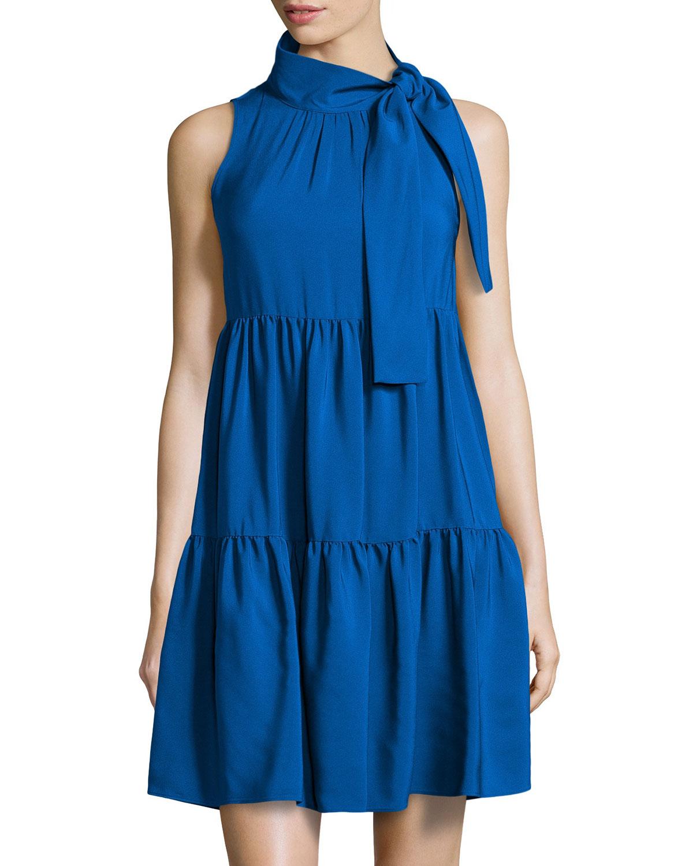sleeveless pleated dress - Blue Red Valentino 6Aq4smipS