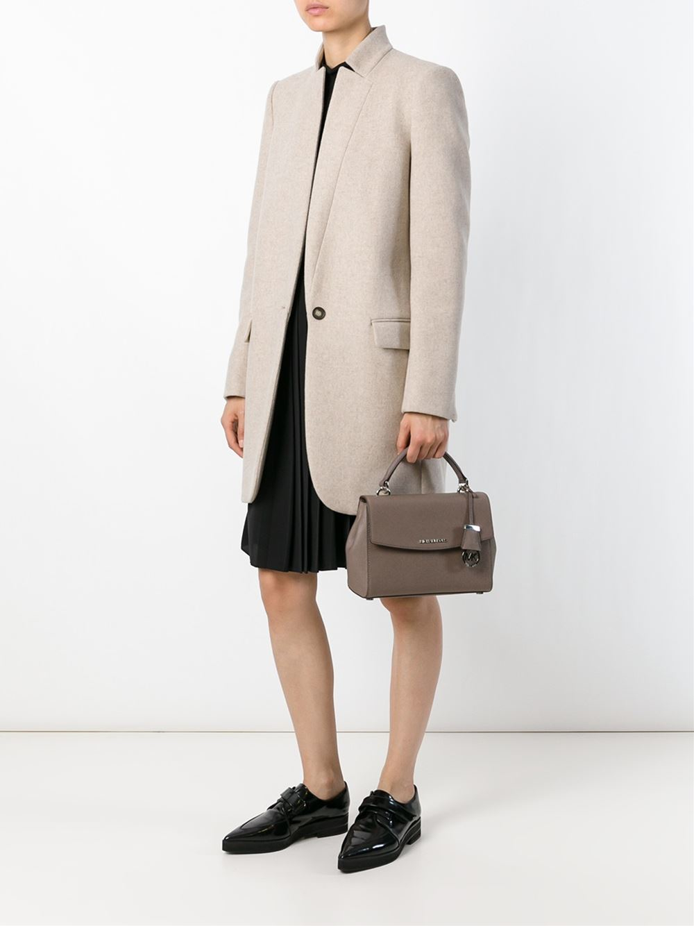 MICHAEL Michael Kors Leather 'ava' Tote in Brown