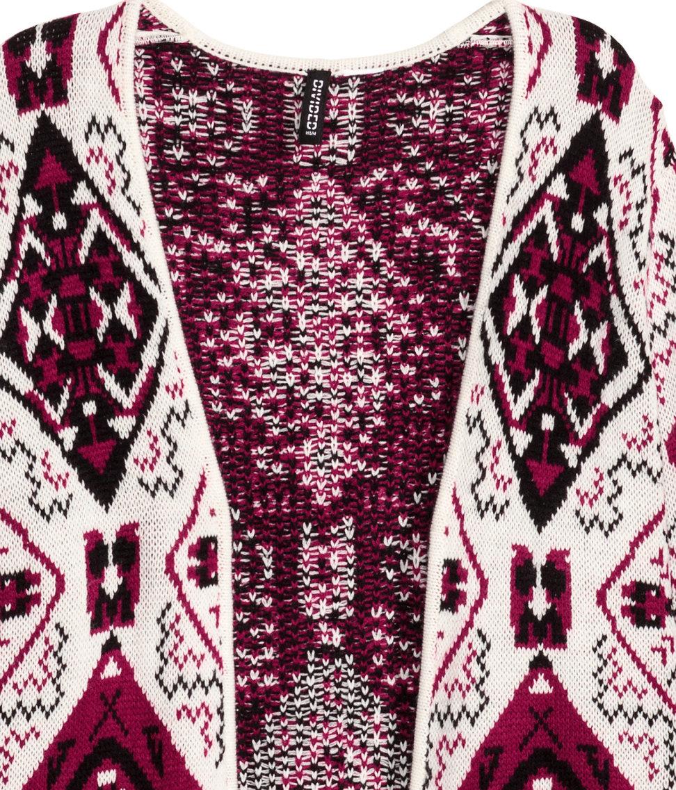 Lyst - H M Jacquard-knit Cardigan in Red 84fd9cd1c