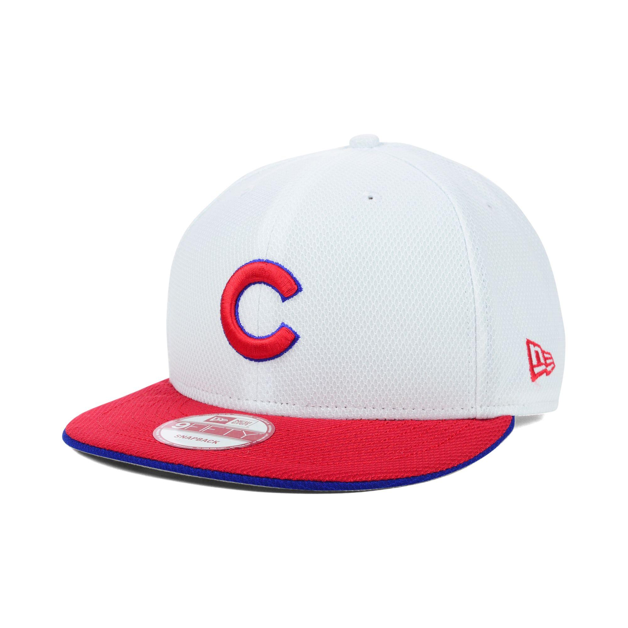 hot sale online 94e8b d6ff1 ... release date lyst ktz chicago cubs mlb white diamond era 9fifty  snapback cap in 3a605 62133