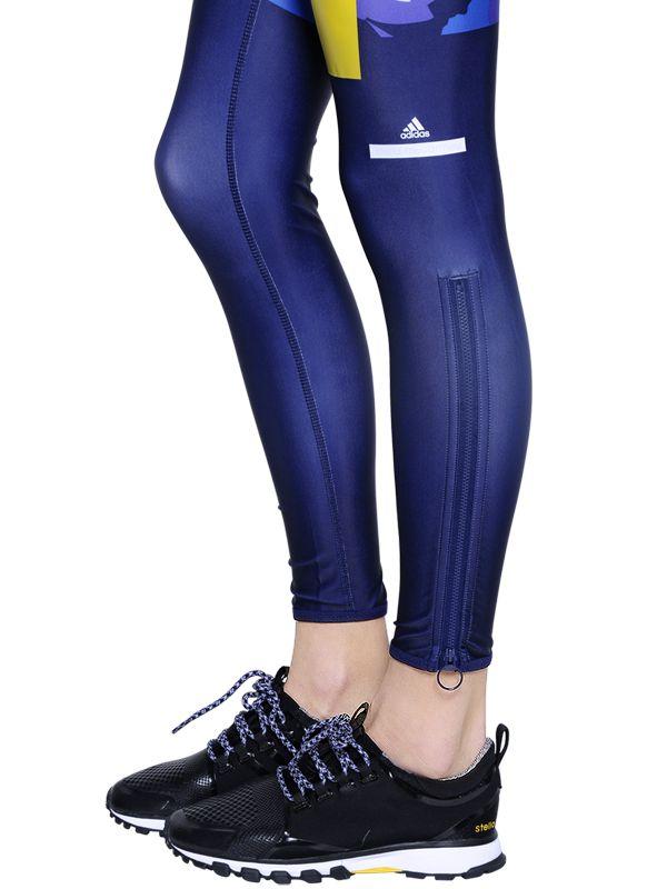 Adidas Mccartney Blue Running Stella Leggings Tight Lycra By Techfit IYDH2E9W