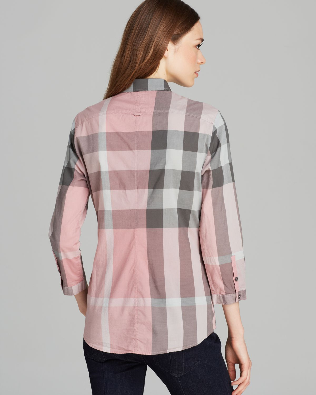 43e062d7e520 Lyst - Burberry Brit Check Print Shirt in Pink