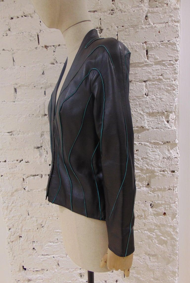 Smoke Gray Waffle Crop Jacket Hoodie Cover Up Jacket Zip Up Short Jacket Fitted Long Sleeve Warm Up Textured Track Jacket Moto Sty Jacket