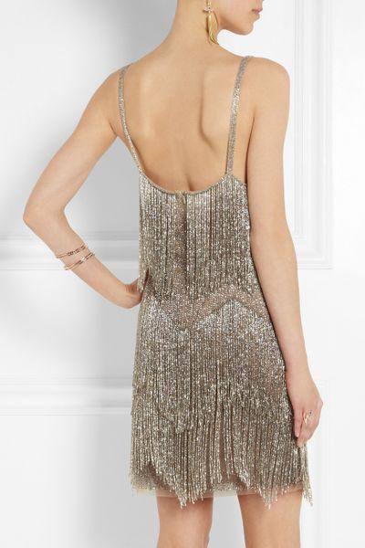 Tulle Mini Dress in Silver