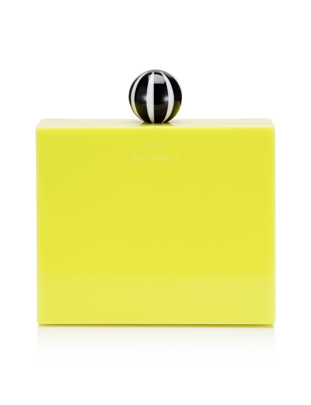 chloe leather handbags - Lulu guinness Chartreuse Perspex Chloe Clutch in Yellow ...