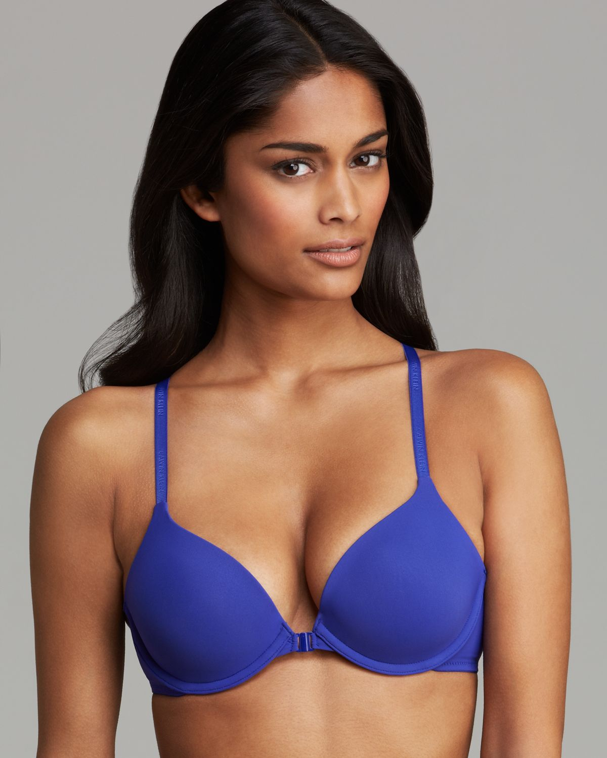 32fe208ecdc3 Calvin Klein Racerback Bra Womens Perfectly Fit in Blue - Lyst