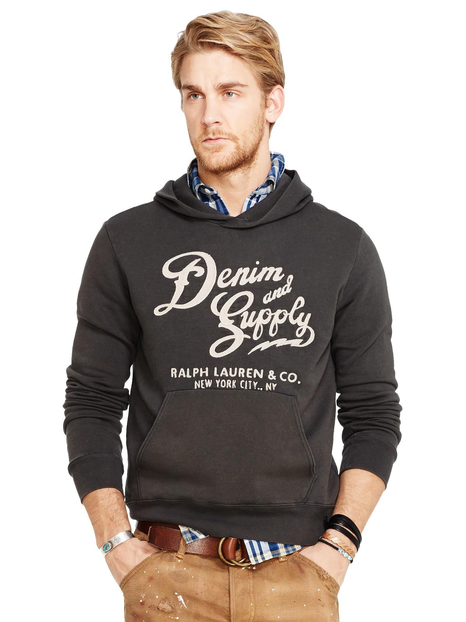 ralph lauren denim and supply hoodies