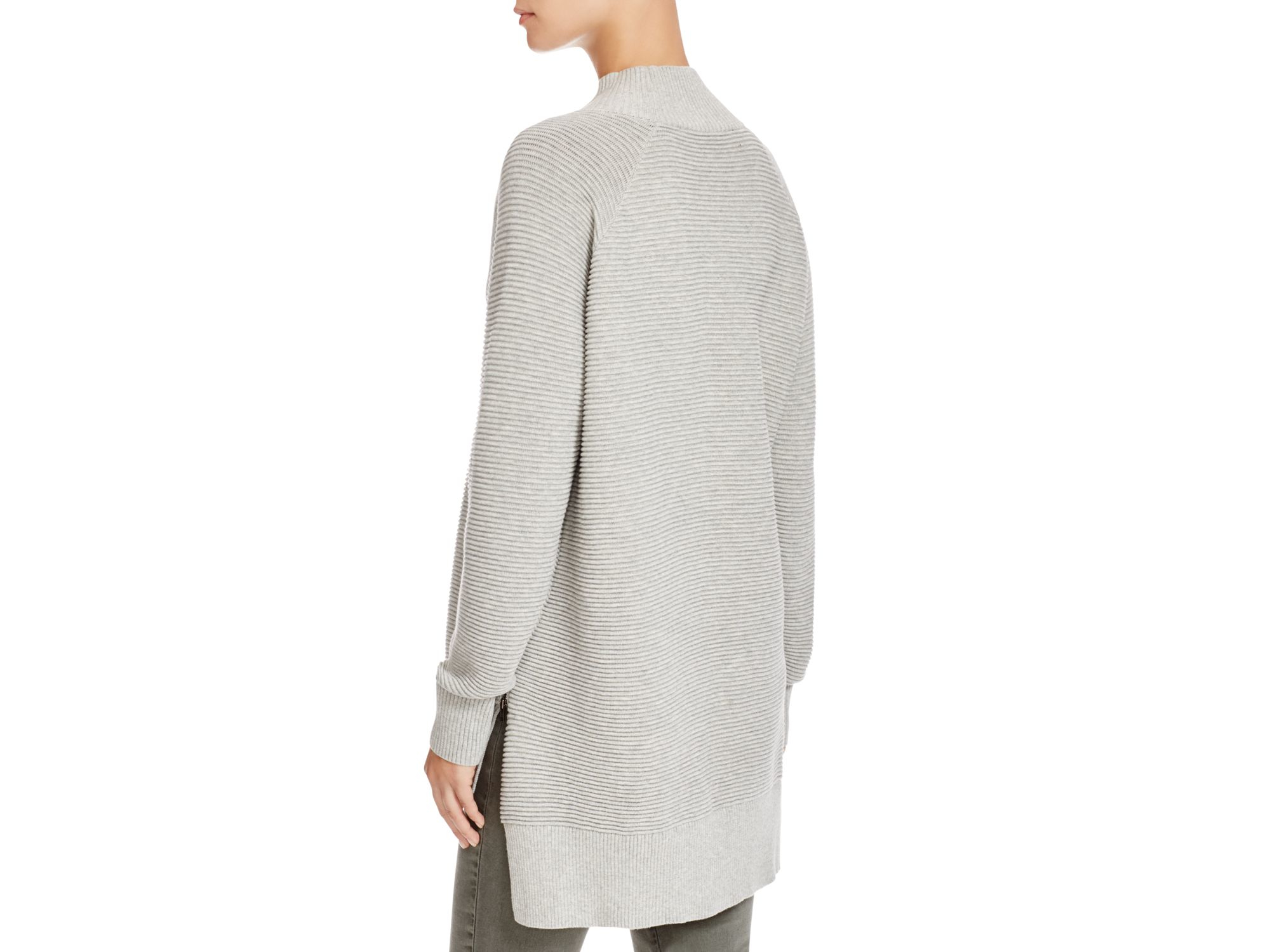 72201ff7499 Lyst French Connection Ribbed Sweater In Gray