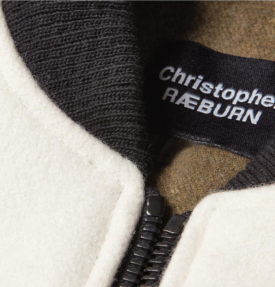 988d4a582 Christopher Raeburn Contrast-Sleeve Merino Wool Bomber Jacket in ...