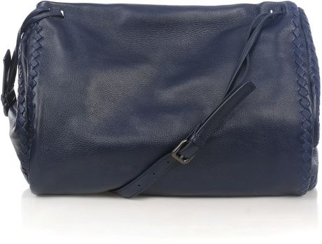 Bottega Veneta Cervo Drawstring Messenger Bag in Blue