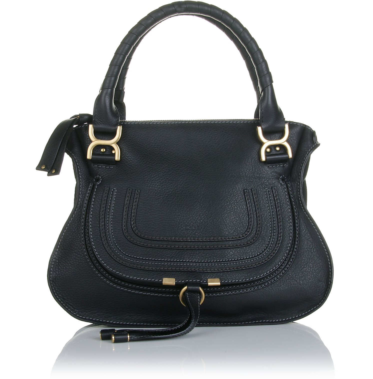 chlo marcie medium shoulder bag in black lyst. Black Bedroom Furniture Sets. Home Design Ideas